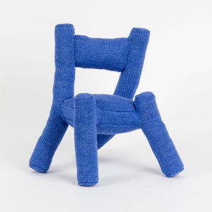katie stout sweater chair blue