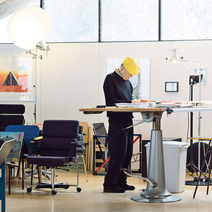 strong finnish helsinki kukkapuro open sitting area studio standing desk portrait iare