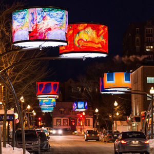 LED installation by Lightemotion, Quebec City