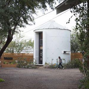 grain silo exterior garden