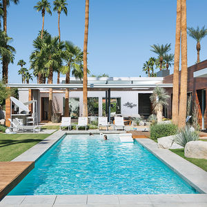 indian summer concrete stucco ipe home pool
