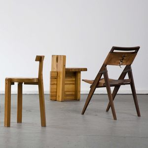 wood leather chair set robert burle marx