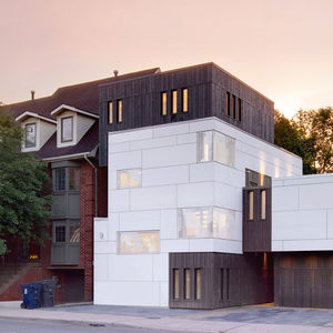 cruickshank house front exterior evening