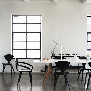 monochrome home book dining