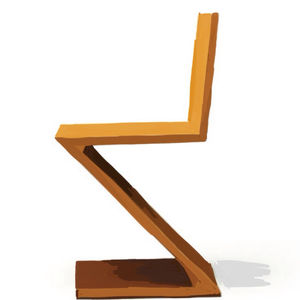 zig zag chair illustration
