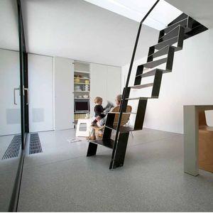 ljubljana microhouse central staircase