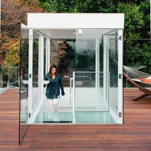 view finder don dimster renovation glass box stairs roof deck