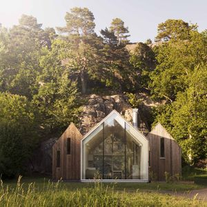 micro cluster cabins norway three unit exterior