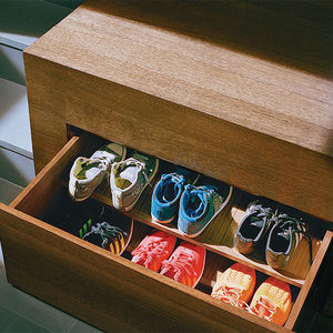 object lesson san francisco renovation hidden storage shoe drawers mezzanine floor