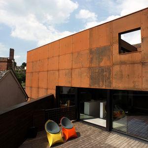 Ferrum House Steel Cladding Facade and Deck