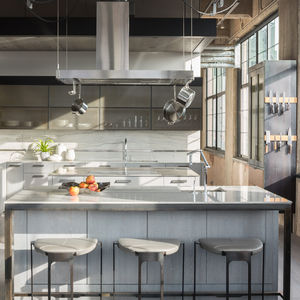 denver loft industrial kitchen