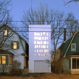 haffenden house exterior facade night