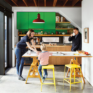 raising the roof vancouver bungalow kitchen green cabinets