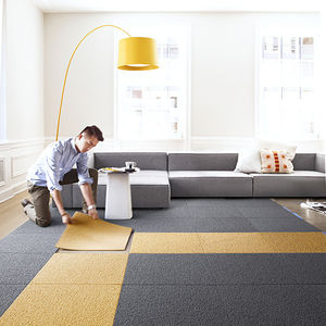 flor carpet tiles heaven sent installation