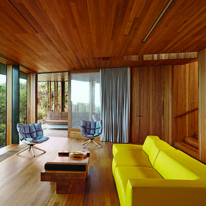 fairhaven beach house living room blackbutt eucalyptus