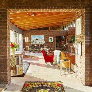 retro active english countryside living room