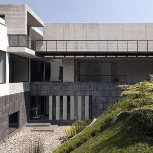 mexico city casa u hill side view