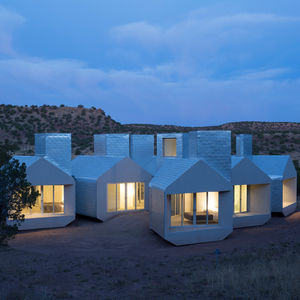 A cluster of off-the-grid prefabricated units.