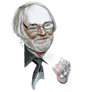 Illustration of Juhani Pallasmaa by Jack Unruh.