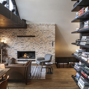 Cozy loft with built-in bookshelves in Bulgaria