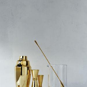 24-karat gold-plated barware collection