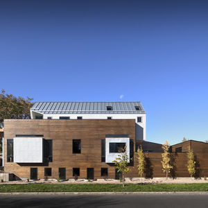 Red cedar-clad Denver home.