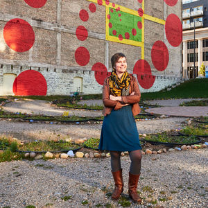 amanda lovelee st paul minnesota artist public space urban flower field portrait