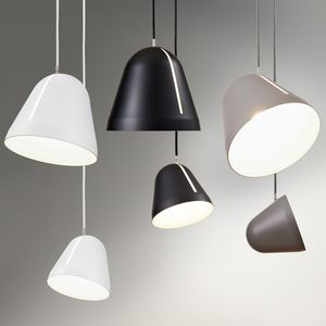 Cluster of pendant lights with tilting function