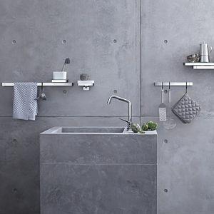 antonio citterio italtian architect designer bathroom design axor universal accessories kitchen brackets shelves