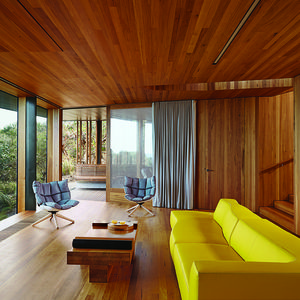 modern fairhaven beach house blackbutt eucalyptus living room