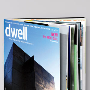 Dwell 15 years anniversary first issue cover from October 2000