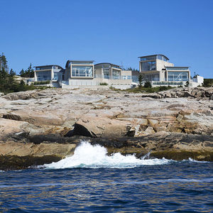 Modern Nova Scotia home overlooking the ocean.