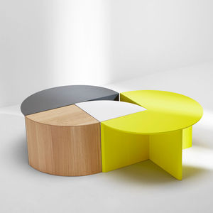 Pie Chart System side and coffee tables by H Furniture