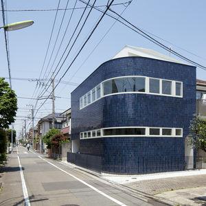 Half & Half House Exterior Facade, Tokyo