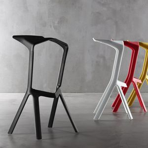Indoor/outdoor stool with angled frame
