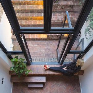 London Terraced Home Brick Floors