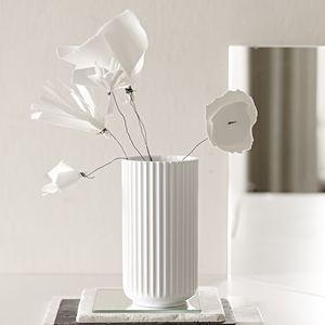 Sophisticated pleated porcelain vase
