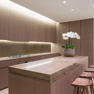 Minimal USA Sliding Countertop in kitchen of Tadao Ando's 152 Elizabeth in New York