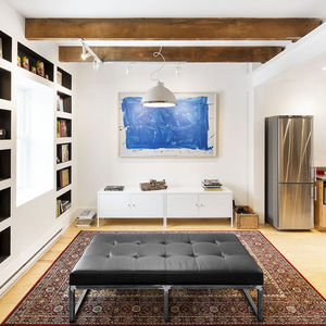 Living space in a Montreal renovated row house