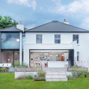 Two-story addition to a historic English house