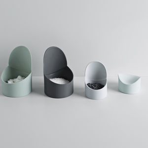 Flexible silicone storage containers in different sizes