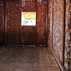 prefab typhoon shelters paper tube palm thatching shigeru ban