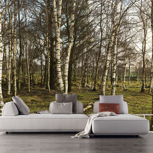 Resource Furniture Nature wallcovering and Flex sofa