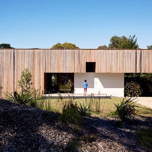 Exterior facade of an Australian vacation home