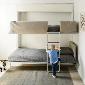 Children's bedroom with a bunk bed in Brooklyn
