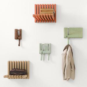 stash and grab kitchen organization hidden wall hooks sculptures jeux beech oak walnut hanging