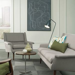 Classic midcentury sofa and lounge chair