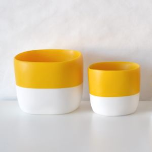 Two-tone storage vessel or planter
