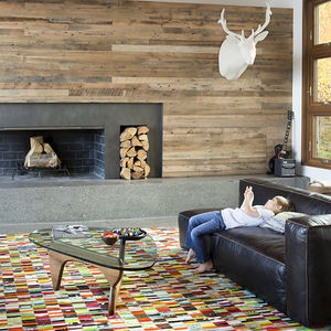 Living room in the Jackson Hole vacation home