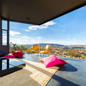 Living room in the Yucca Valley house